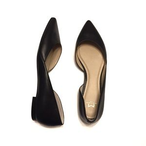 Marc Fisher Shoes - Marc Fisher Sunny Black Leather D'Orsay Flat